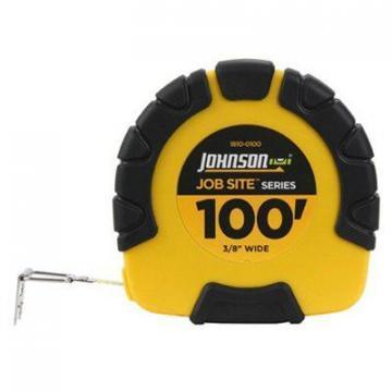 "Johnson Job Site Closed-Case Tape Measure, 3:1 Gear Drive, 3/8"" x 100-Ft."