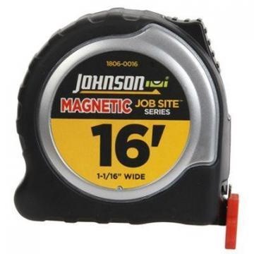 Johnson Job Site Power Tape Measure, Magnetic Tip, 1-1/16 In. x 16-Ft.