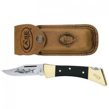 Case Hammerhead Lockback Pocket Knife, with Leather Sheath, 5""