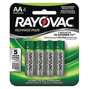 Rayovac AA Pre-Charged Rechargeable Battery, Recharge, Nickel-Metal Hydride