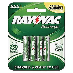 Rayovac AAA Pre-Charged Rechargeable Battery, Recharge, Nickel-Metal Hydride