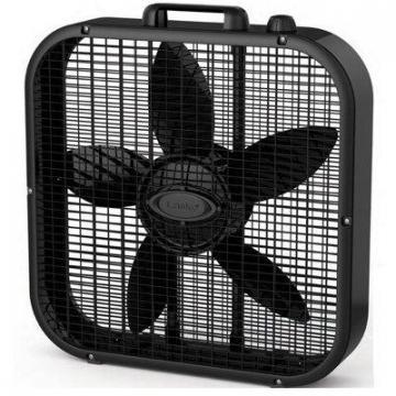 Lasko Box Fan, 3-Speed, Black, 20-In.