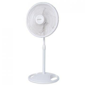 Lasko Oscillating Stand Fan, White, 16-In.