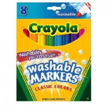 Crayola 8-Count Washable Broad Line Markers