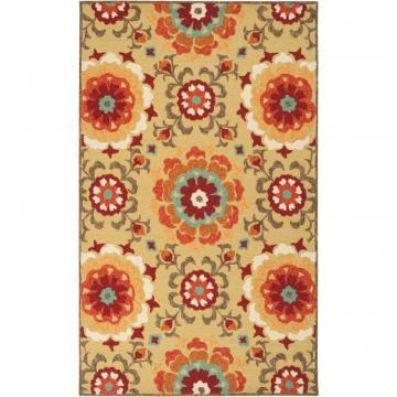 "Artistic Weavers Ayolas Citrine Polypropylene Indoor/Outdoor 5' x 7' 6"" Area Rug"
