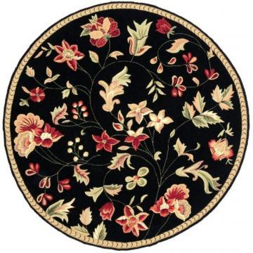 Artistic Weavers Quend Black Wool Round 3' Area Rug