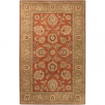 Artistic Weavers Pamier Dark Rust Wool 8' x 11' Area Rug