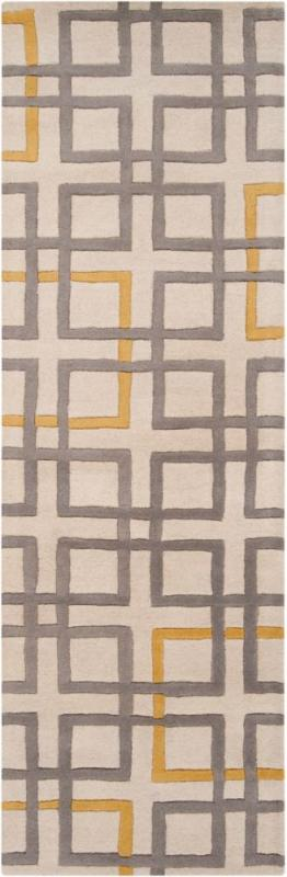 "Artistic Weavers Calama Beige New Zealand Wool 2' 6"" x 8' Runner"