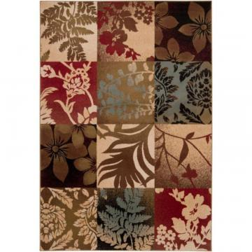 "Artistic Weavers Abbotsford Tea Leaves Polypropylene 6' 6"" x 9' 8"" Area Rug"