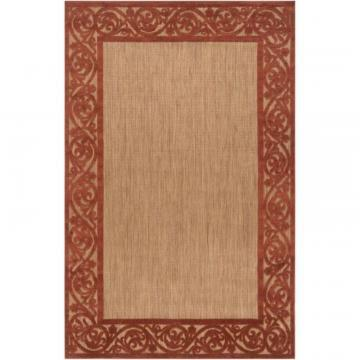 Artistic Weavers Garden View Terra Cotta Olefin 5' x 7' Area Rug