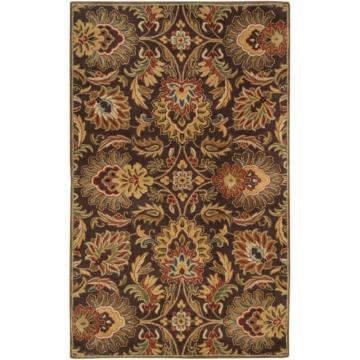 Artistic Calabasas Chocolate Wool  - 5' x 8' Area Rug