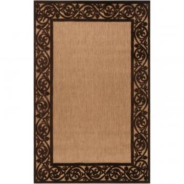 "Artistic Garden View Chocolate Olefin 5' x 7' 6"" Area Rug"