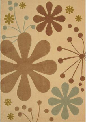 Lanart Urban Bloom Ivory 4' x 6' Area Rug