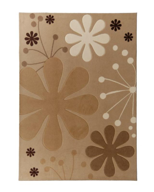 Lanart Urban Bloom Beige 5' x 7' Area Rug