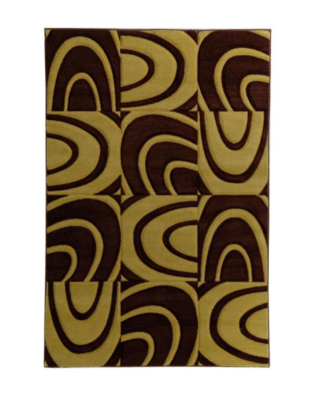 Lanart Windows Brown 8' x 10' Area Rug