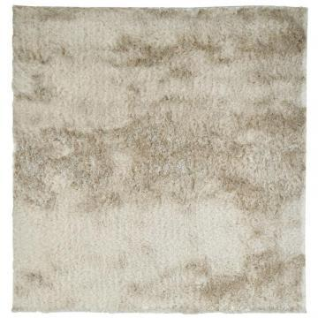 Lanart Beige So Silky 5' x 5' Area Rug