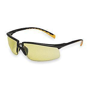 3M Privo  Anti-Fog Safety Glasses, Amber Lens Color