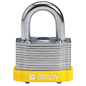 "Brady Alike-Keyed Padlock, Extended Shackle Type, 2"" Shackle Height, Green"