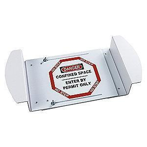 "Brady Confined Space, Danger, Polyester, 30-1/2"" x 42"", Adhesive Surface"