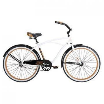 Huffy Good Vibration Cruiser Bicycle, Men's, Gloss White, 26-In.