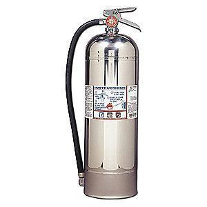 Kidde Water Fire Extinguisher, 2.5 gal. Capacity and 55 sec. Discharge Time