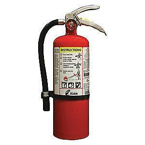 Kidde Dry Chemical Fire Extinguisher, 5 lb, 12 to 14 sec. Discharge Time