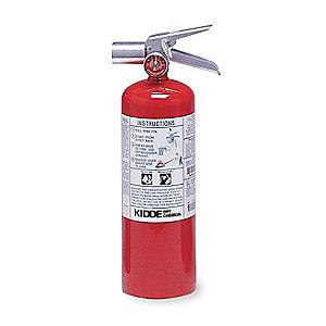 Kidde Halotron Fire Extinguisher, 5 lb, 9 sec. Discharge Time