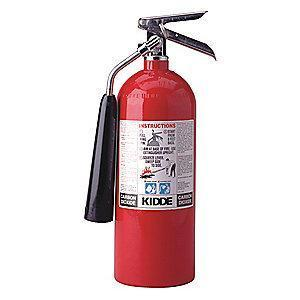 Kidde Carbon Dioxide Fire Extinguisher, 5 lb, 7 to 9 sec. Discharge Time
