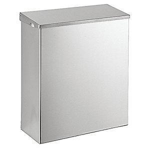 "Tough Guy Stainless Steel Sanitary Napkin Receptacle, 11"" Height"