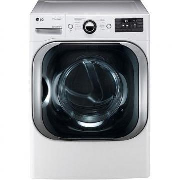 LG 9 Cu. Ft. Mega Capacity Gas Dryer with TrueSteam Technology - White