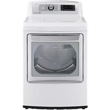 LG 7.3 Cu. Ft. Ultra-Large High-Efficiency Gas Steam Dryer - White