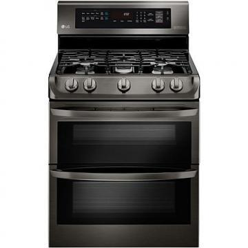 LG 6.9 Cu. Ft. Freestanding Gas Double Oven with Griddle Plate