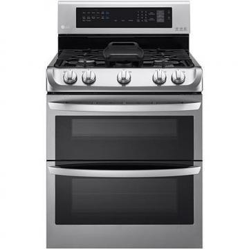 LG 6.3 Cu. Ft. Free-Standing Gas Double Oven with Griddle Plate