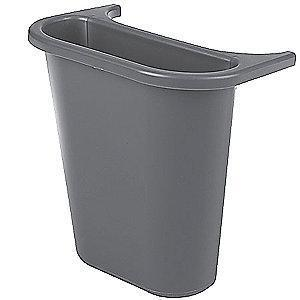 Rubbermaid 1 gal. Gray Recycling Saddle, Open Top