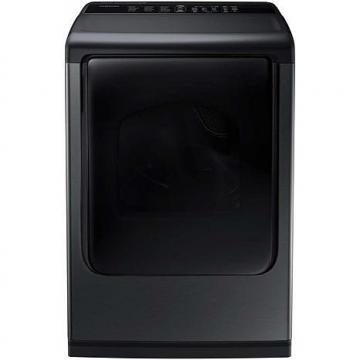 Samsung 7.4 cu. ft. Top-Load Electric Dryer, Black Stainless Steel