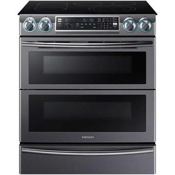 Samsung 5.8 Cu. Ft. Flex Duo Slide-In Electric Range, Black Stainless Steel