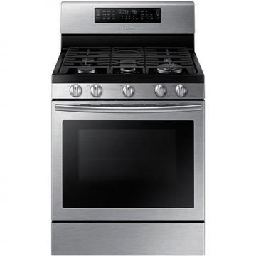 "Samsung 30"" 5.8 cu. ft Gas Flex Duo Oven"