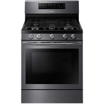 "Samsung 30"" 5.8 cu. ft Gas Flex Duo Oven - Black Stainless"