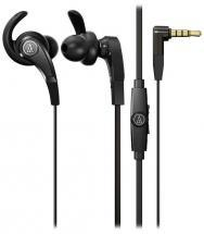 Audio-Technica SonicFuel In-Ear Headphones with Inline Mic & Control - Black
