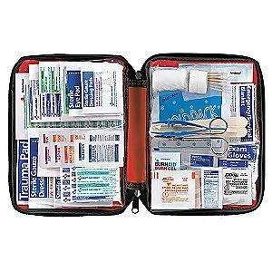 American First Aid Kit, PVC Case, Workplace, 25 People Served