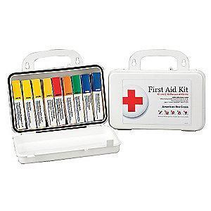 American First Aid Kit, Plastic Case, Workplace, 10 People Served