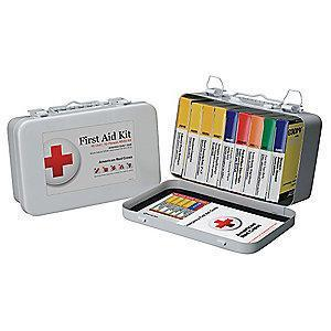 American First Aid Kit, Metal Case, Workplace, 10 People Served