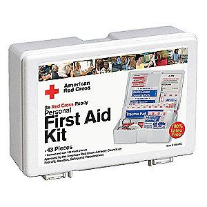 American First Aid Kit, Plastic Case, General Use, 10 People Served