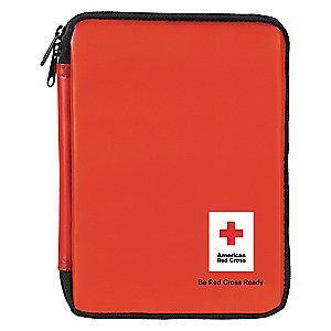 American First Aid Kit, PVC Case, Family, 10 People Served
