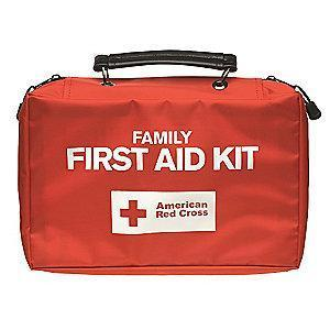 American First Aid Kit, Nylon Case, Family, 10 People Served