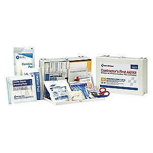 First Aid Only First Aid Kit, Metal Case, Workplace, 25 People Served