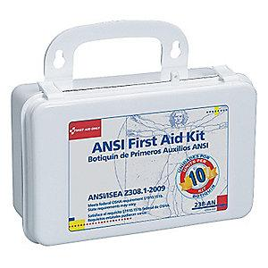 First Aid Only First Aid Kit, Plastic Case, General Use, 10 People Served