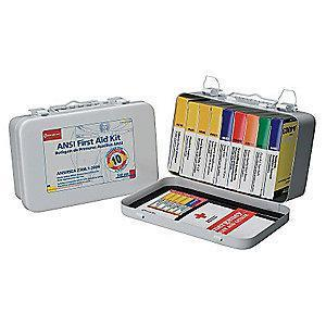 First Aid Only First Aid Kit, Metal Case, General Use, 10 People Served
