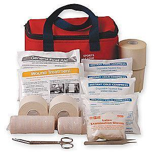 Pac-Kit First Aid Kit,  Fabric Case, General Purpose, 20 People Served