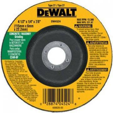 "DeWalt 4.5 x .25"" Fast Masonry-Cutting Wheel"